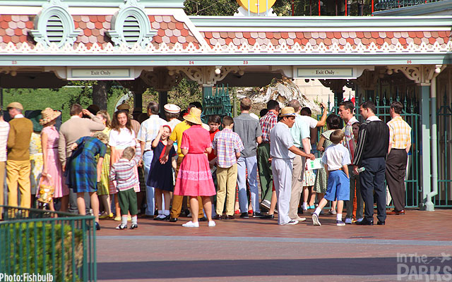 Saving Mr. Banks filming at Disneyland, California