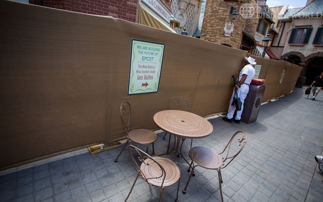 Over in France, walls are still up for the conversion of the old bakery to ice cream parlor.
