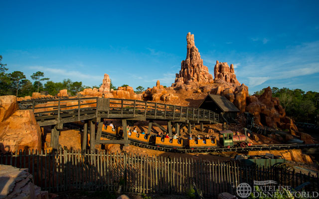 Big Thunder Mountain is looking good.